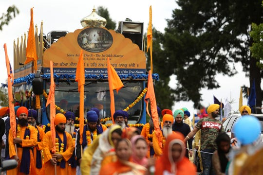 The Sikh Day Parade beginning at the Dasmesh Darbar Sikh Temple in Salem on June 22, 2019.