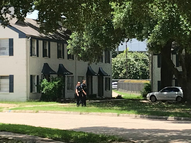 Shreveport police respond to a shooting on Dudley Drive on Saturday, June 22.
