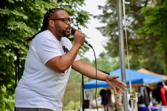 V. Bady performs at Staunton's third annual Juneteenth celebration on June 22, 2019.