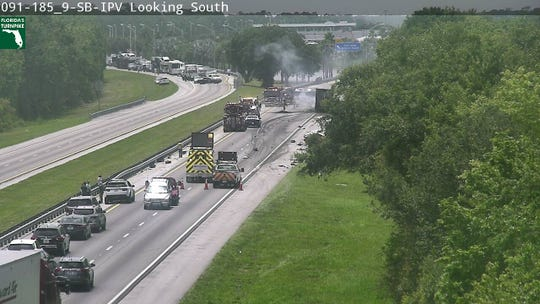 A vehicle crash had both directions of Florida's Turnpike blocked Saturday afternoon.
