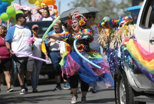 Thousands of El Pasoans turned out for the biggest Pride Parade yet Saturday in downtown El Paso.
