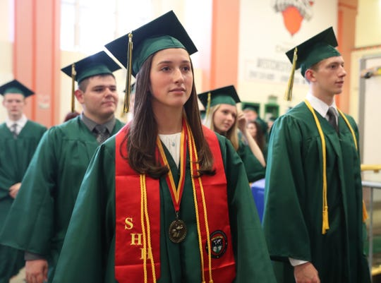 Lakeland High School holds their graduation ceremony at the Westchester County Center in White Plains on Saturday, June 22, 2019.
