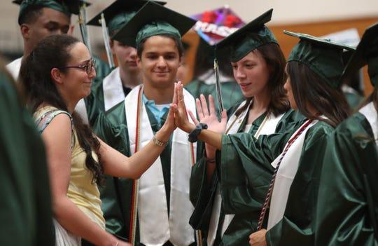 Pleasantville High School holds their graduation ceremony in Pleasantville on Friday, June 21, 2019.