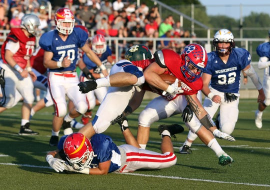The Licking-Muskingum All-Star Game scheduled for June has been canceled because of the coronavirus pandemic. Licking beat Muskingum 27-21 in 2019 to trim Muskingum's lead to 20-18.