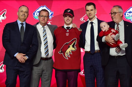The Coyotes drafted Swedish defenseman Victor Soderstrom with the No. 11 overall pick in the first round of the 2019 NHL Draft on Friday in Vancouver.