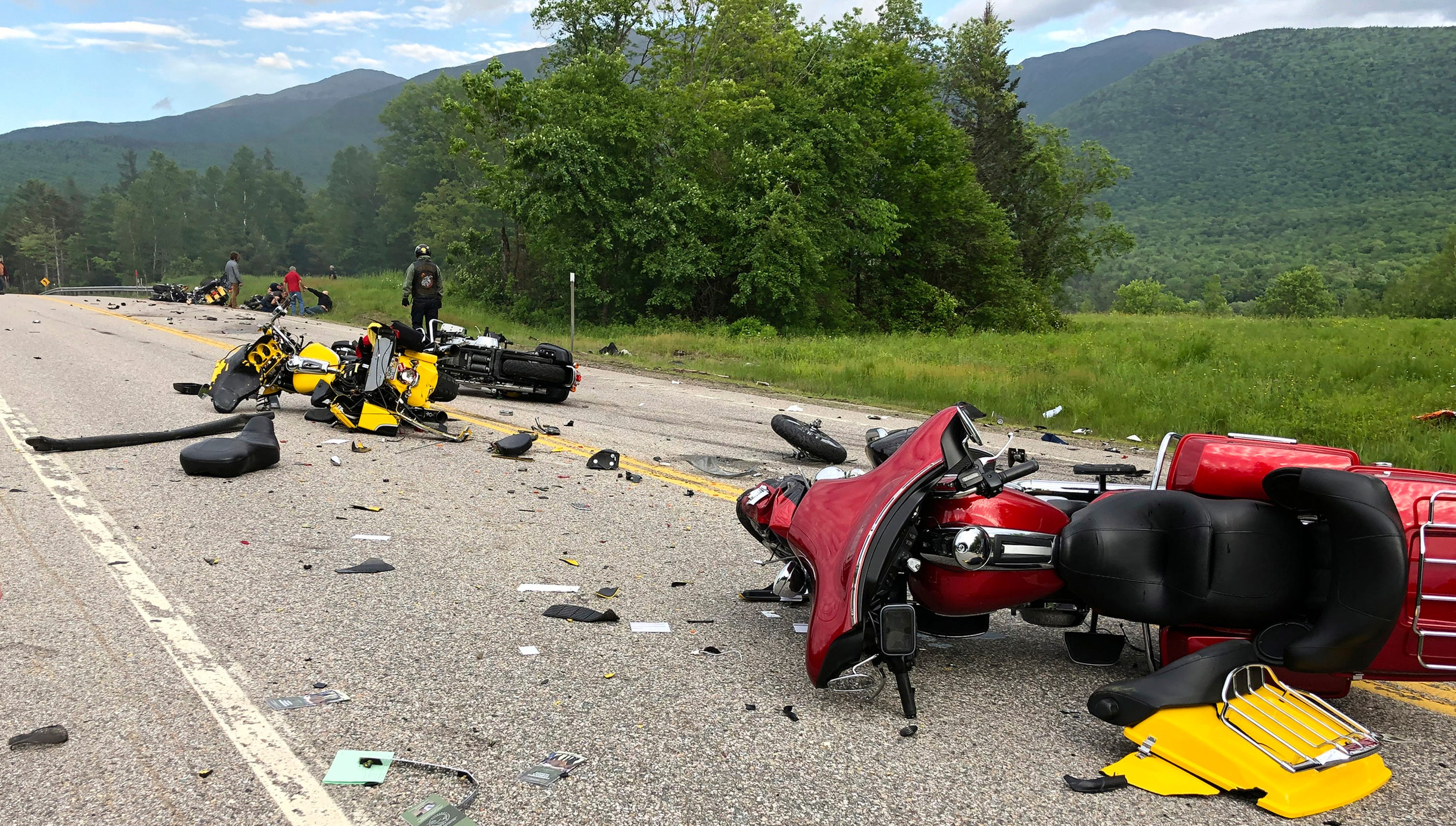 New Hampshire motorcycle collision: multiple dead and injured