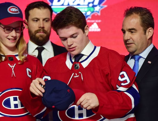 Dynamic scorer Cole Caufield finally was snagged by the Canadiens at the No. 15 pick.
