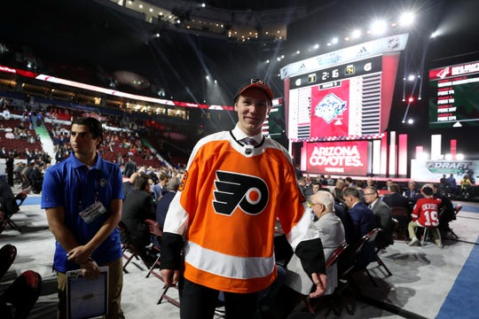 Ronnie Attard was all smiles after the Flyers selected him in the third round. He was one of three defensemen the Flyers picked in their seven-player prospect class.