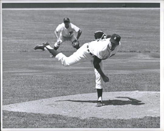 Phil Regan, shown here pitching for the Tigers in the mid-1960s, was the losing pitcher in the franchise's longest game in minutes, back in 1962.