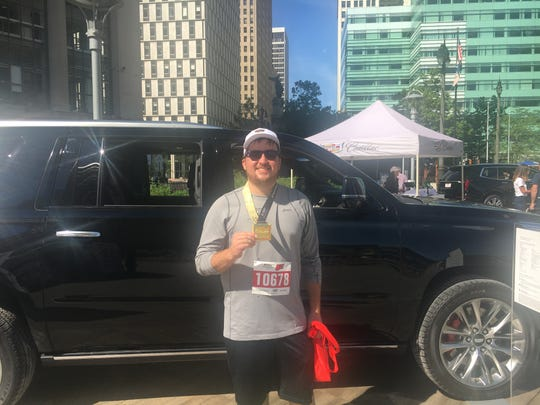 Timothy Pontzer, 25, of Auburn Hills, participated in the Rocket Mortgage Classic 5K Run and Walk Sunday, June 23.