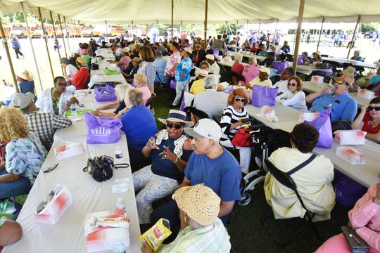 Hundreds gather for the Wayne County Senior Services Senior Funfest in Wyandotte on Saturday.