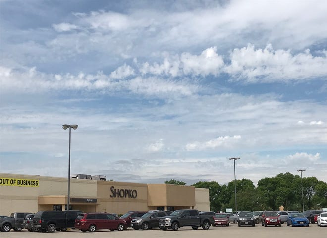 Cars fill the parking lot at Fond du Lac's Shopko a half an hour after opening for the final day of sales, June 23, 2019.