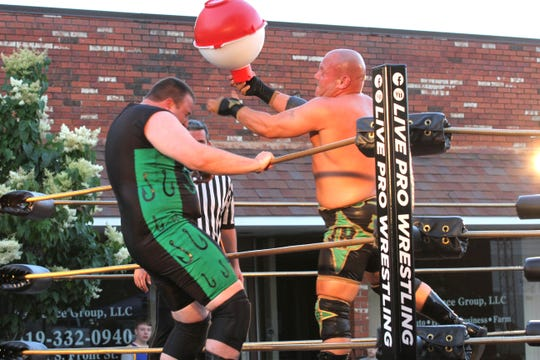 "The 'Bait Shop Brawl' included some fishing-themed weapons during Live Pro Wresting's ""Fight 4 Fremont III"" outdoor event ."