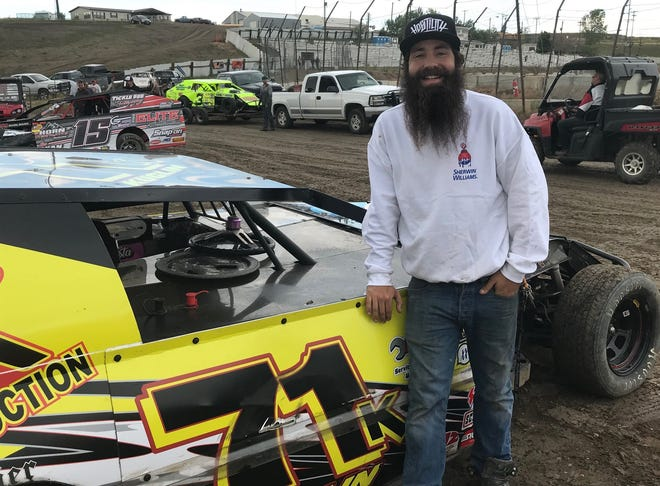 Veteran driver Cody Kuglin, pictured with his No. 71K modified race car, is having a good season despite the number of race cancellations due to weather at Electric City Speedway.