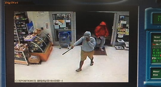 Security footage displays an armed robbery that took place at San Jose Supermarket early Sunday morning.