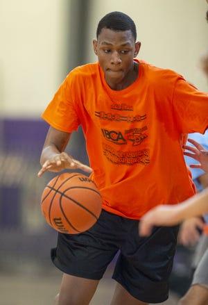 Gary West High School basketball player Jalen Washington