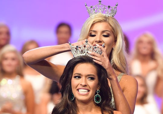 Kerri Arnold is crowned Miss Tennessee 2019 on June 22, 2019, at the Carl Perkins Civic Center.