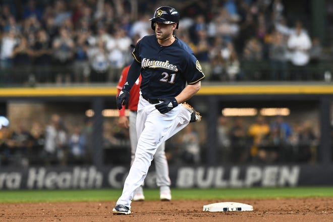 Travis Shaw is hitting .164 with six homers and 13 RBI with an OPS of .568 in 57 games with the Brewers this season.