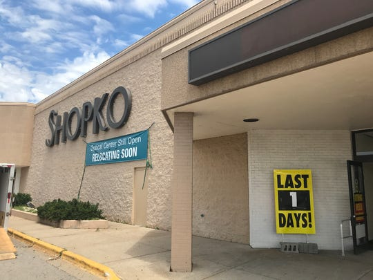 Shopko, 1300 S. Koeller St., is on its last day in Oshkosh.