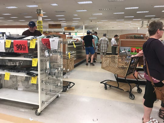 People shop for last minute deals as Shopko in Oshkosh prepares to close.