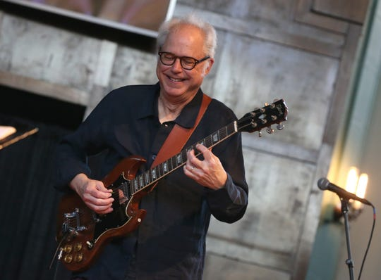 Bill Frisell during his first show of the night with his Bill Frisell Trio at the Temple Building Theater.