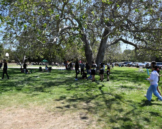 In this file photo from summer 2019, people gather in Toro Park for a barbecue.