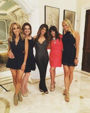 "Taylor Lucy (furthest right) on the set of ""The Real Housewives of New Jersey"" with cast members. Courtesy of Taylor Lucy."