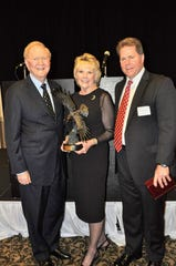 The Suwannee River Area Council, Boy Scouts of America recently honored former Insurance Commissioner Bill Gunter and Kathy Atkins- Gunter by presenting the organization's Distinguished Citizens Award.