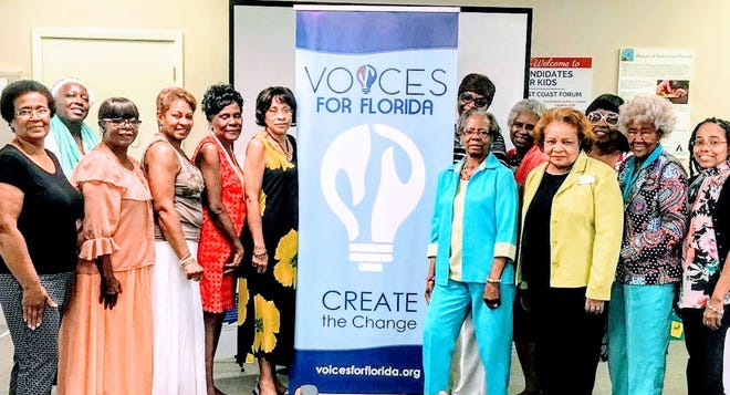 LASC members front row, L-R Mrs. Betty Smith, Dr. Patty Ball-Thomas, Mrs. Donna Barron, Mrs. Clenteria Drayton, Mrs. Lenita J. Joe, Dr. Jerrlyne Jackson, Mrs. Dorothy McCaskill, Mrs. Margaree Elkins, and Dr. Aurelia Alexander. Back row, L-R Dr. Murell Dawson, Mrs. Mary Peters, Mrs. Mae Williams and Dr. Doris Ballard-Ferguson.