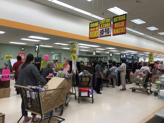 The line to check out at the Wausau Shopko on its final day, June 23, 2019.