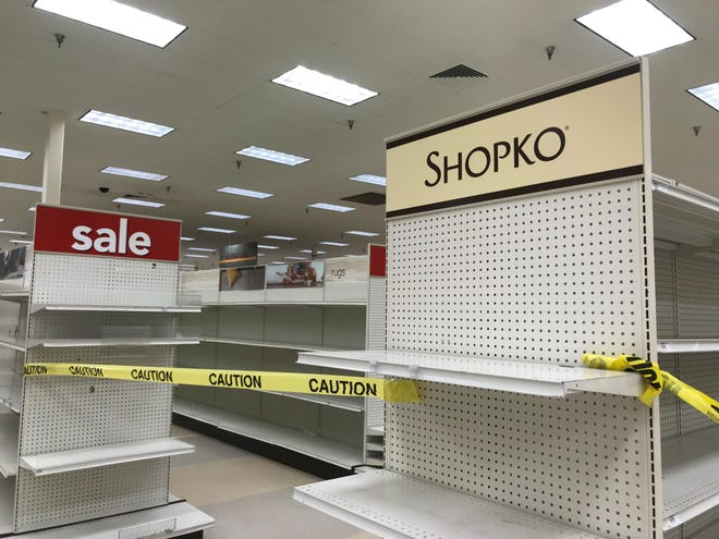 Empty aisles at the Wausau Shopko store on its closing day, June 23, 2019.