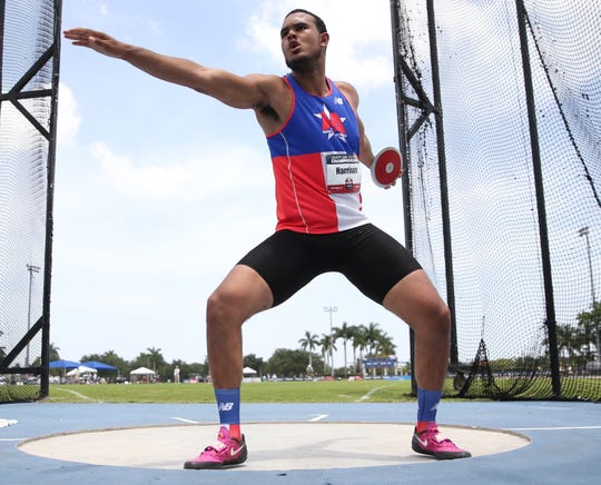 Ramapo's Anthony Harrison at USA T&F U20 Outdoor Championships June 22, 2019