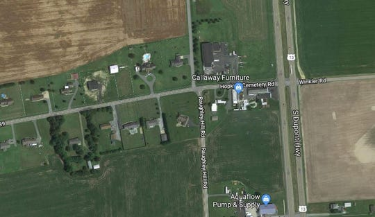 Two motorcyclists were killed in a crash on Hopkins Cemetery Road on Saturday, police said.