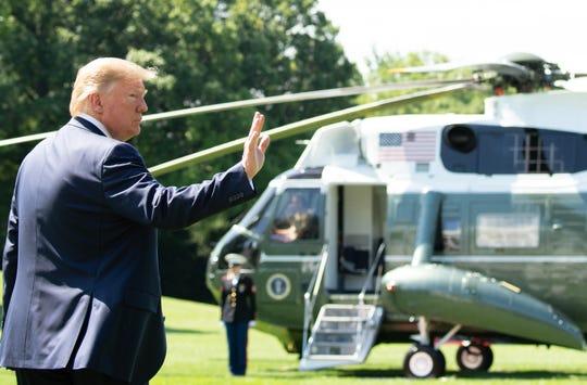 President Donald Trump walks to Marine One on June 22, 2019.