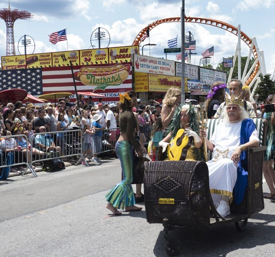 Woody Guthrie's children crowned king and queen of Coney Island's Mermaid Parade