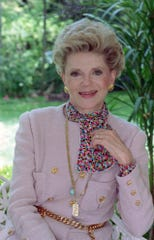 In this May 12, 1986, file photo author Judith Krantz poses for a photo as she embarked on a non-stop talking tour of America to promote her new book. Judith Ktantz died June 22, 2019, at her Bel-Air home of natural causes according to her son Tony Krantz . She was 91.