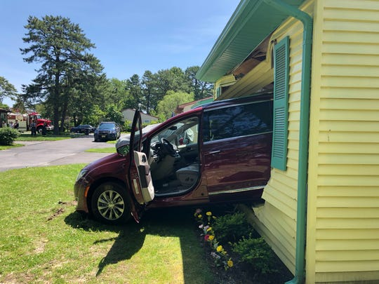 A driver allegedly backed his vehicle into his neighbor's bedroom in the Whiting section of Manchester on June 23, 2019.