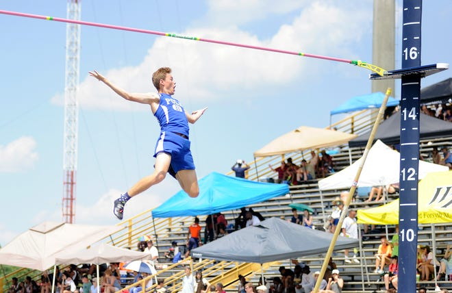 Polk County's Jake Justice has been named the Citizen Times' All-WNC boys track athlete of the year.