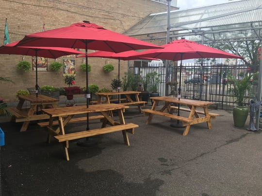 Horrocks Farm Market costumers can now enjoy their food and drinks in their new outdoor patio area.