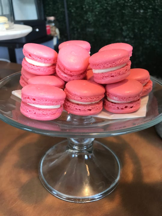 Macarons are a signature treat offered at JJ's Sweet Treats at the BC Cargo marketplace.
