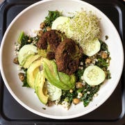 This greens bowl is one of several new dishes at North Fork Kitchen, which opened in the space formerly occupied by Dark City Deli on May 31.