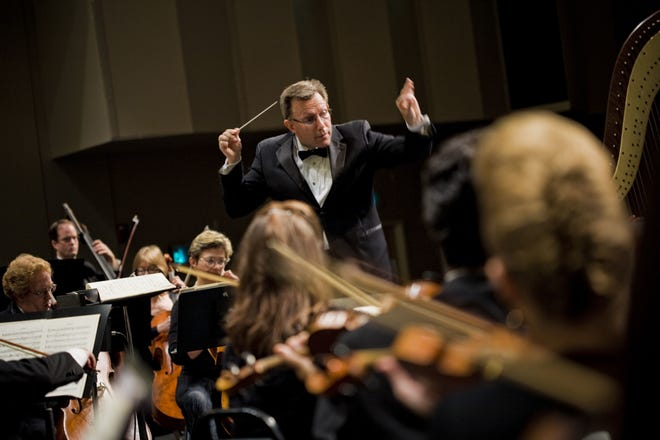 The Brevard Symphony Orchestra, led by Christopher Confessore.