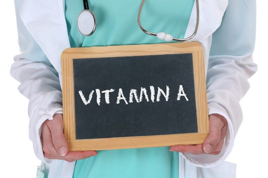Vitamin A is a fat-soluble vitamin that is stored in the liver.  It is important for normal vision, proper development and a well-functioning immune system, among others.