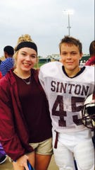 Sinton High School student Gavin McFarland, 16, (left) with his sister Aubrey McFarland. Gavin was shot and killed over the weekend. His mom, Christine Kidd McFarland, said that he was looking forward to this year's football season and had so many hopes and dreams.