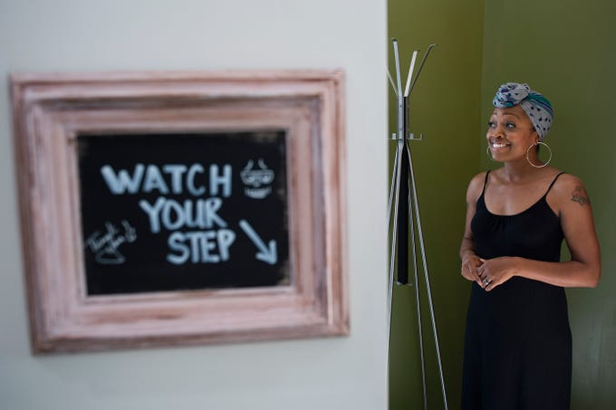 Jamilah Damiani of MADE. inside her recently renovated creative space in Woodbury, N.J. Monday, June 24, 2019.