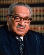 A 1989 file photo of U.S. Supreme Court Justice Thurgood Marshall.