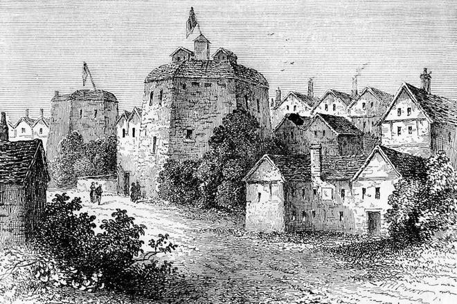 The original Globe Theatre in London was built in 1599 by Shakespeare's playing company, the Lord Chamberlain's Men, and destroyed by fire on June 29, 1613.