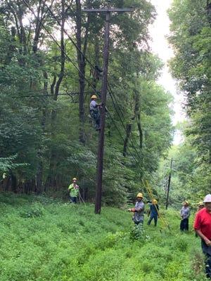 CDE crews working on restoring power