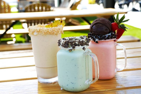 Three shakes from The Creamery Bar at Smash Park: If you Like Pina Coladas, The Boondock Shake and Napoleon Dynamite.