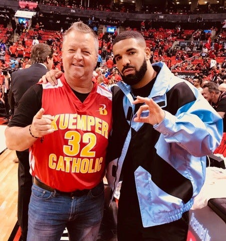 Nick Nurse's old friend Frank Molak wore his high school jersey to the NBA Finals